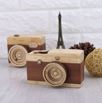 New 1 Pc Kids Wooden Music Retro Camera Design Classical Melody Birthday Toys