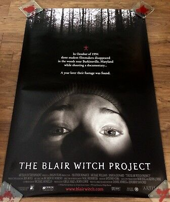 THE BLAIR WITCH PROJECT Original, Double Sided Movie Poster, 27x40, HORROR