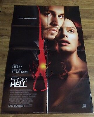 FROM HELL Original, Double Sided, Movie Poster,27x40, JOHNNY DEPP