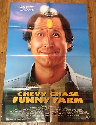FUNNY FARM Original, Double Sided, Movie Poster,27x40, CHEVY CHASE