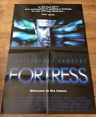 FORTRESS Original, Double Sided, Movie Poster,27x40, CHRISTOPHER LAMBERT