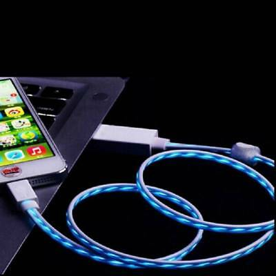 Micro USB Flow Lights LED Visible Data Sync Charger Cable For iPhone 5/6 Android