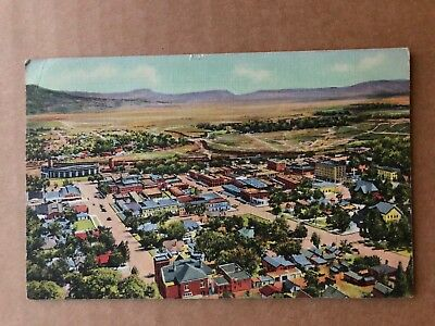 1936 Vintage Postcard Bird's Eye View of Raton NM from Goat Hill