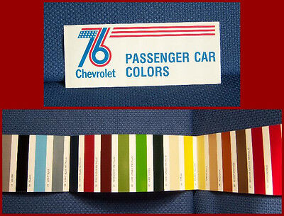 1976 CHEVROLET Automobile Paint Color Brochure - NEW OLD STOCK by GM