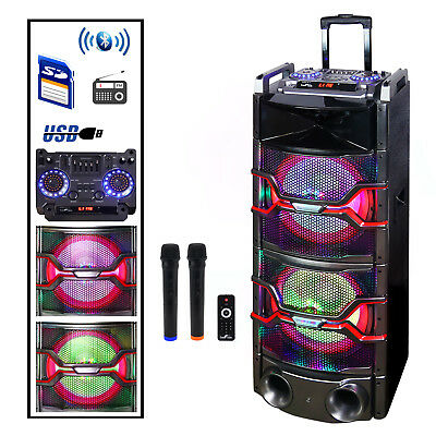 Befree Sound Dual 12 Inch Subwoofer Bluetooth Portable Party Speaker with Sound
