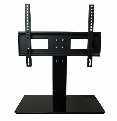 """Universal 22"""" to 63"""" Table Top Glass Base TV Stand For LED LCD Plasma Screens"""