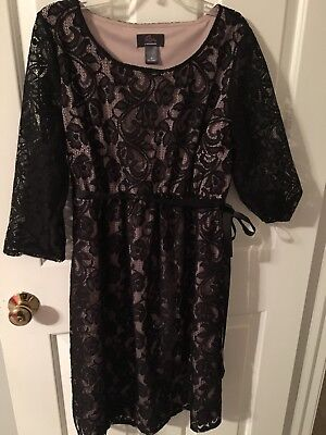 fancy black mootherhood oh baby maternity dress size medium fall winter