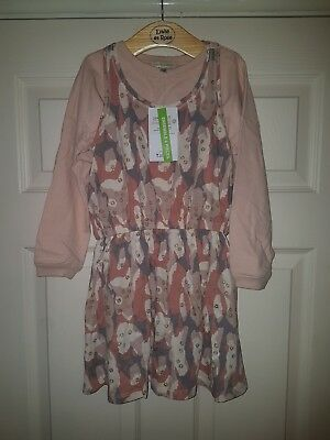 BNWT Vertbaudet Girls two piece set Dress top tshirt 5 ans pink camouflage