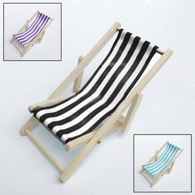 House Chair Miniature Sofa Bed Toys Mini Beach Dollhouse Decorations 1/12 Scale