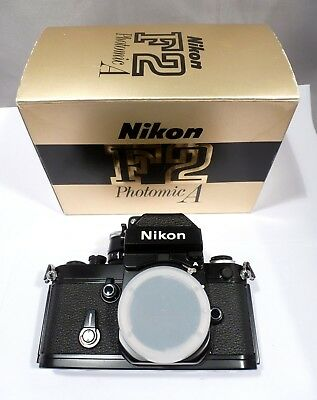 Nikon F2 Photomic A Body, BLACK , Mint  Boxed, Matching Numbers w/instructions