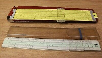 2x Slide Rules - Pickett All Metal in Smart Leather Case & Nestler Rietz No 0239