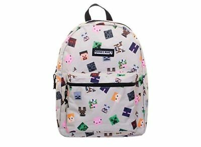 "Minecraft Backpack 16"" Standard Size School Bag New With Tags"