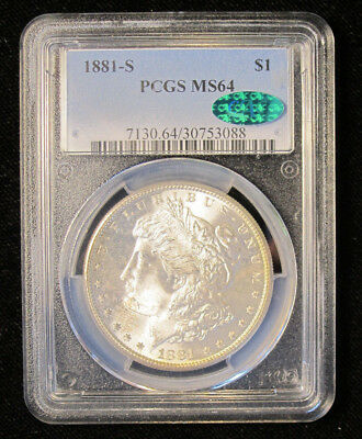 1881-S Morgan Dollar - PCGS MS-64 & CAC approved!