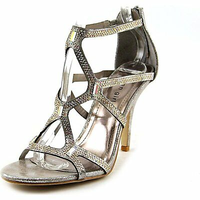 fab3b90232e Madden Girl Digitize Womens Heeled Sandals Silver 6.5 US   4.5 UK