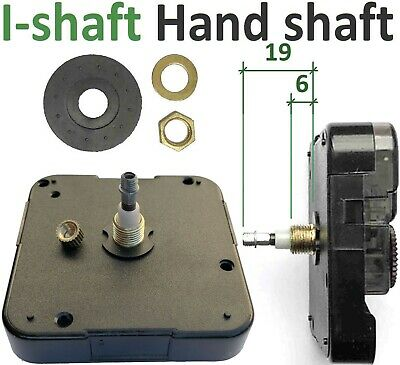 Quartz clock movement, High Torque Young Town 12888, I-shaft / Euroshaft, 19mm
