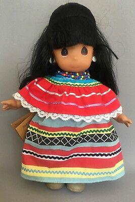 New Precious Moments American Indian Seminole Doll Amitola 1994 Collectible
