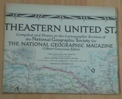National Geographic Map of North Eastern United States. (September. 1945).