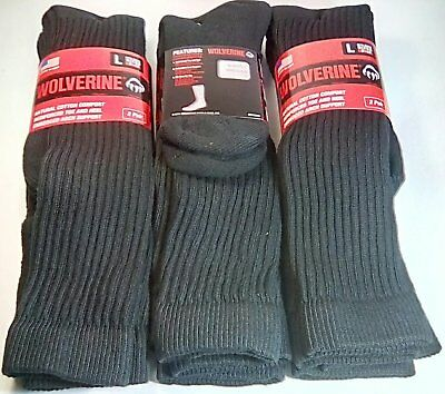 Wolverine Cotton Over-the-Calf Boot Sock, Large, Black, 6 pair $28.99 +FREE SHIP