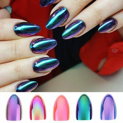 Silver False Nails Stiletto Metallic Shiny Bling Fake Nail Tips Mirror Chrome Artificial Nail Tips