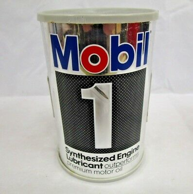 Vtg Novelty Mobile 1 Sysnthesized Engine Oil Lubricant Can AM Transistor Radio