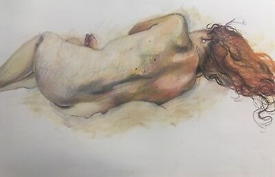 Original Art Work Unique Life Drawing Female Nude By Catherine MacDiarmid Pastel