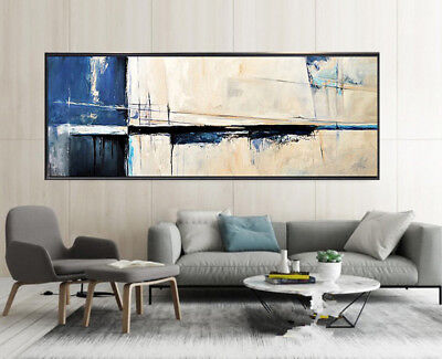 VV043 Modern Large Hand-painted abstract oil painting on canvas No Frame 48in