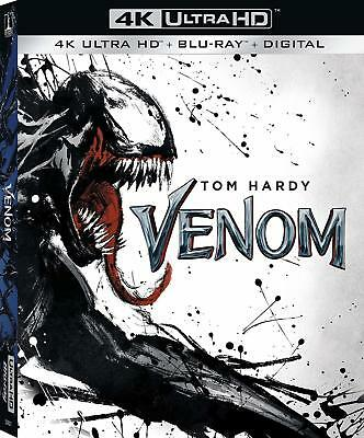 VENOM (Tom Hardy)   (4K ULTRA HD ) - Blu Ray -Region free