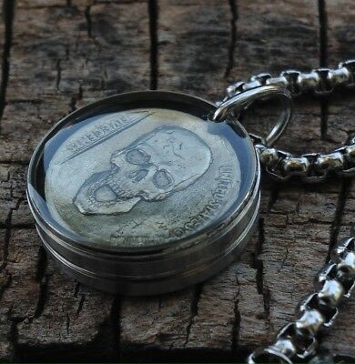 """Hobo Nickel Necklace (with 26"""" Stainless Steel Chain)"""
