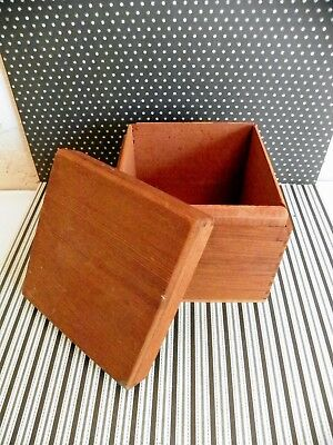 """Vntg Daniel Webster """"Deep South"""" Pipe Tobacco Half Pound Jointed Wood Box RARE"""