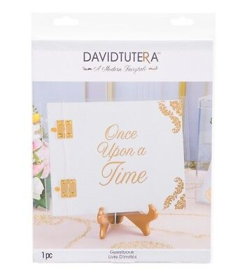 David Tutera Once Upon A Time Wedding Guest Book Signature White Gold