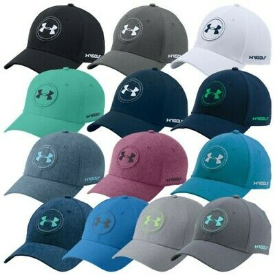 Under Armour Mens Jordan Spieth Tour Cap - New UA Golf Stretch Fit Baseball  Hat cc2d9c8deb70