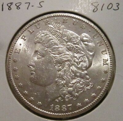 1887-S Morgan Silver Dollar Better Date Coin With Great Details