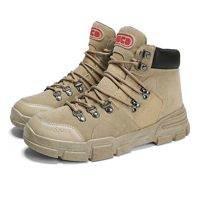 Men's Climbing Boots Sports Martin Shoes Outdoor Canvas Sneakers Flats Lace Up