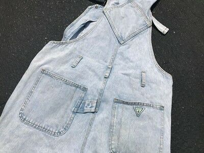 Guess Jeans Vintage Acid Wash Denim Overalls size men's M VTG 80s 90s Rap Music