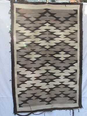 "Antique Native American Indian Navajo  Rug  72"" x 48"""