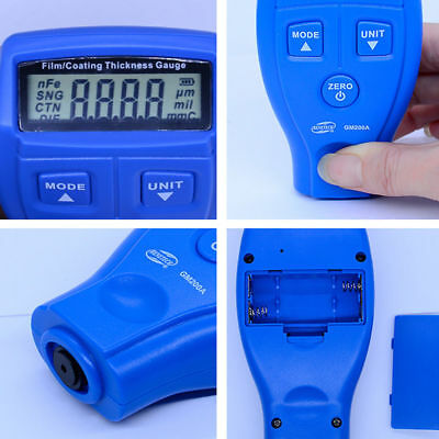 UK Digital Painting Meter LCD Auto Car Coating Thickness Gauge Tester Portable