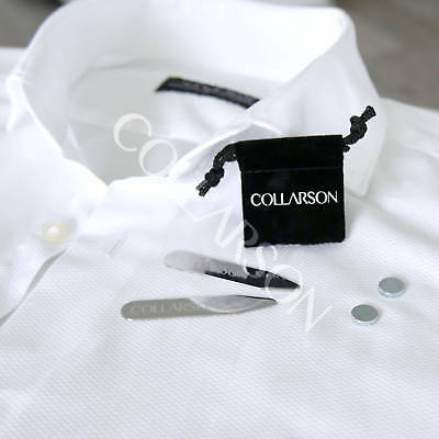 New Collarson Magnetic Collar Stays In Polished Stainless Steel With Gift Box