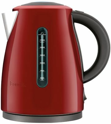 Breville BKE495CRN the Soft Top® Clear 1.7L 7 Cup Kettle - Cranberry