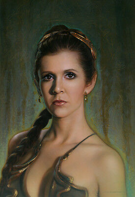 """Acme Archives Star Wars Giclee On Canvas Leia """"fearless"""" By Jerry Vanderstelt"""