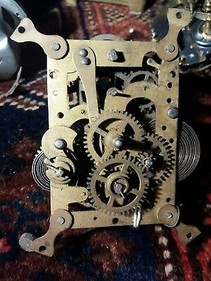 Vintage  Swiss Clock movement  For Restoration   Spare Or repair