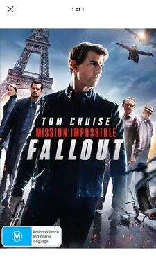 Mission Impossible - Fallout (DVD, 2018) : NEW