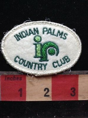 Vtg Golf - Indian Palms Country Club - Golfer California Patch C76P