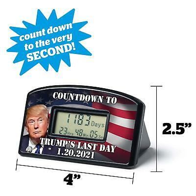 New Countdown Clock Timer Trump Last Day 01 20 2021 (with Impeachment Offer!)