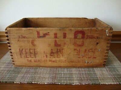 Vintage Jello Advertising Dovetailed Wood Box Shipping Crate Rustic Woodenware