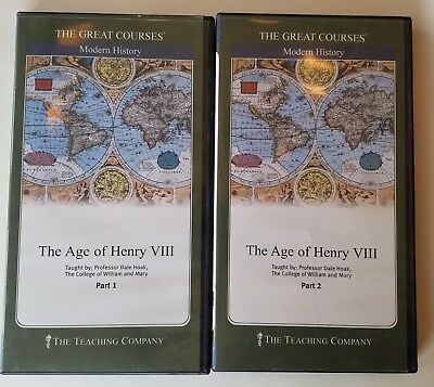 The Great Courses: The Age of Henry VIII, 4 DVDs + course guidebooks