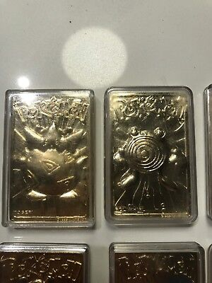 Pokemon gold trading cards from burger king set of 6