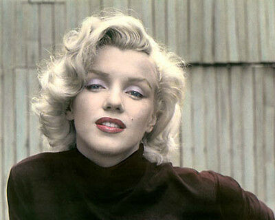 """MARILYN MONROE 1953 HOLLYWOOD ACTRESS & MOVIE STAR 8x10"""" HAND COLOR TINTED PHOTO"""