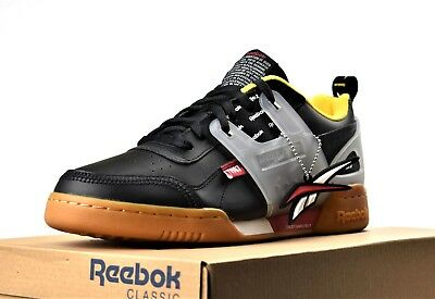8cd9102ef4e67 New Reebok Workout Plus Altered Men s Training Gym Shoes Black Red Yellow  Gum