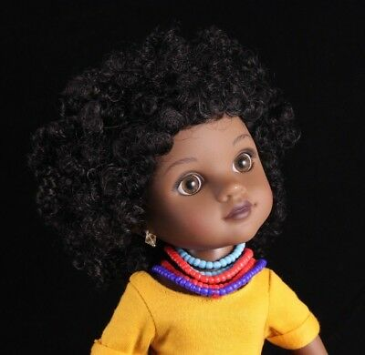 "Playmates Toys Hearts for Hearts Girls 14"" Vinyl Doll ""RAHEL"" from Ethiopia 2010"