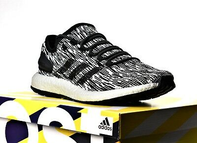 e1dc65d357685 New Adidas Pureboost Oreo Black White Men s Boost Running Shoes Pure Boost